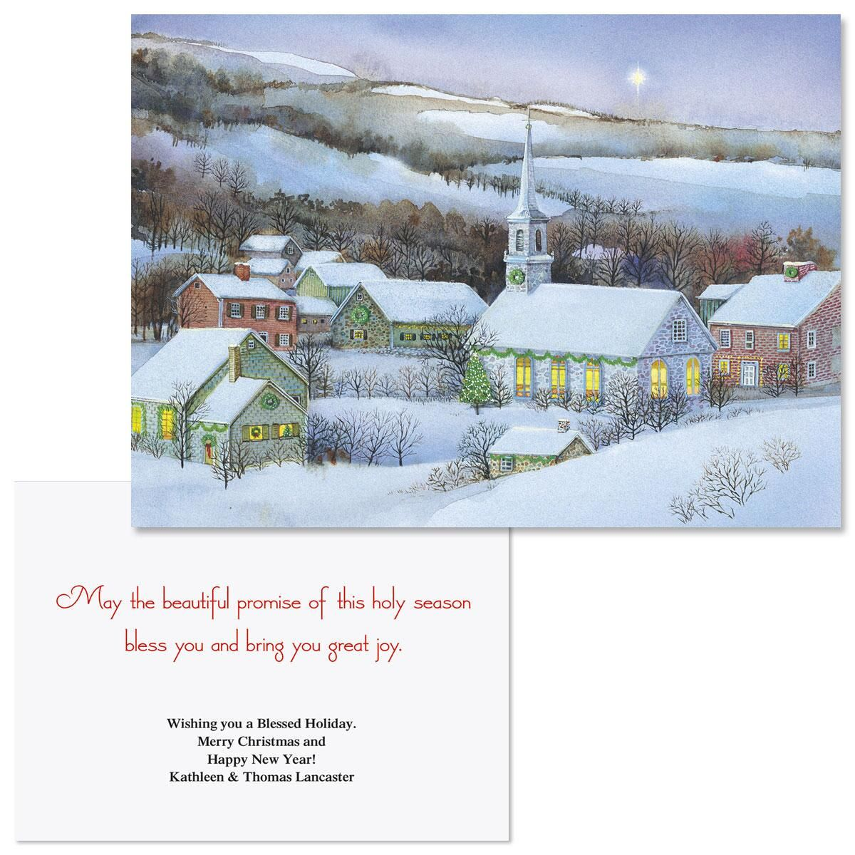 Snowy Evening  Note Card Size Christmas Cards