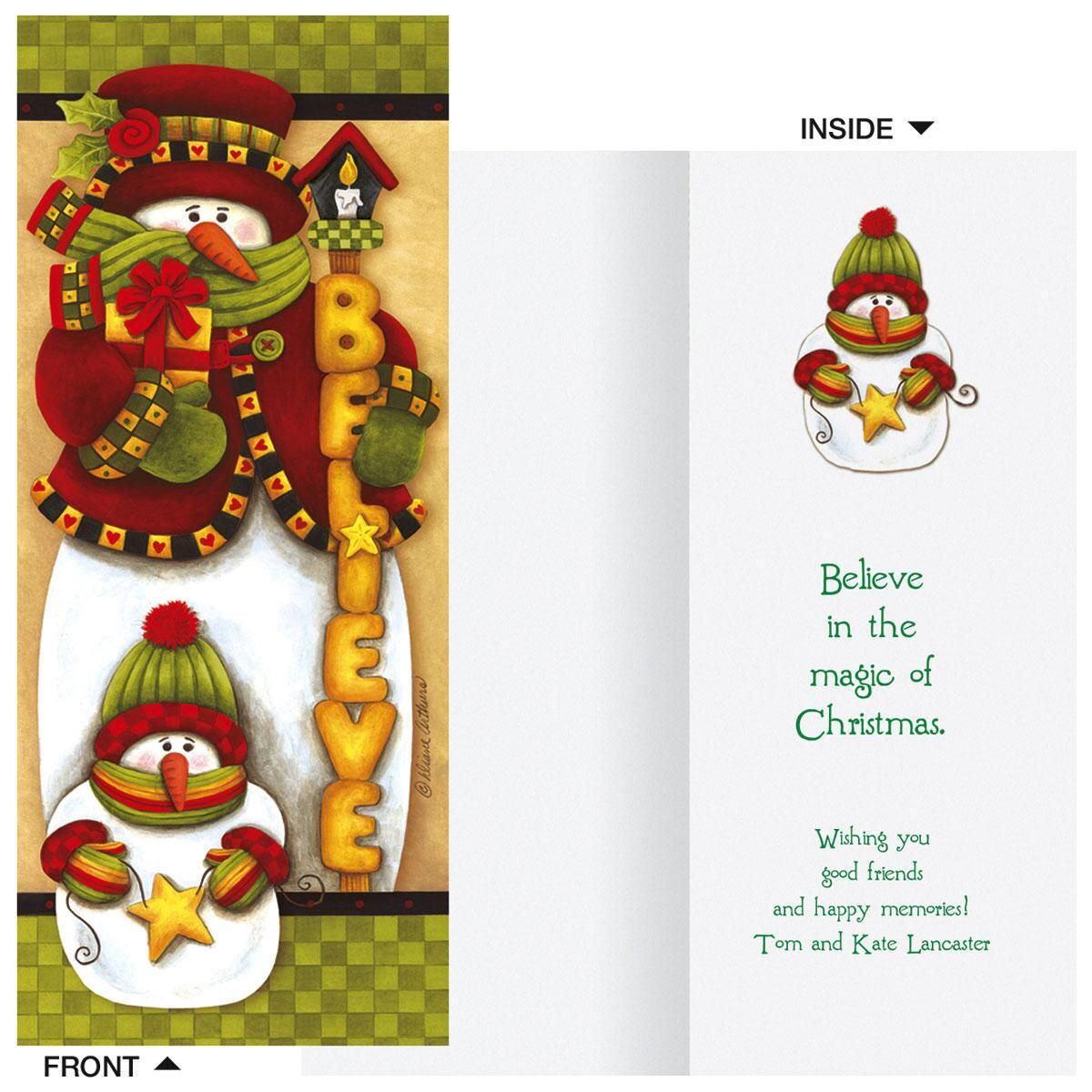 Believe Slimline Holiday Cards