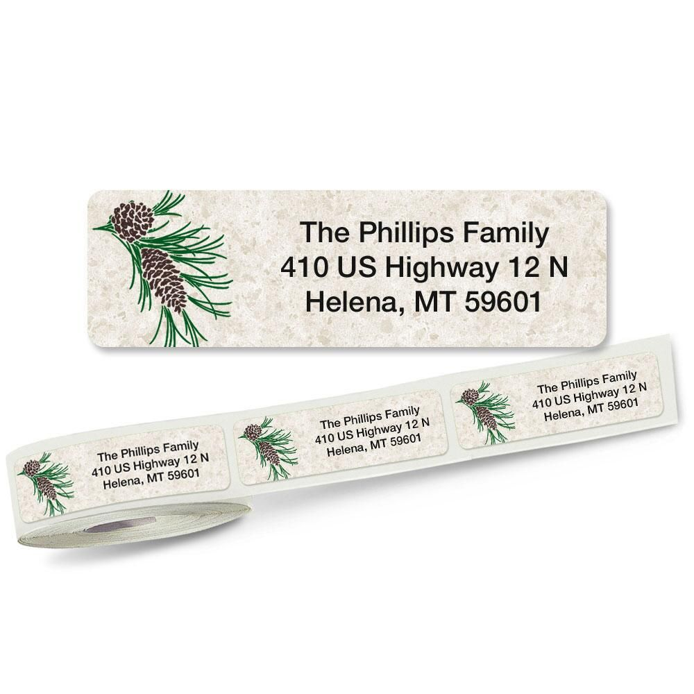 Pinecone Rolled Address Labels
