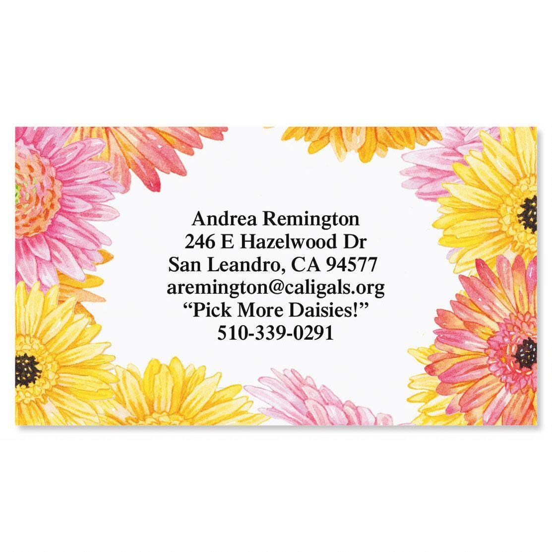 Gerbera Daisy Business Cards