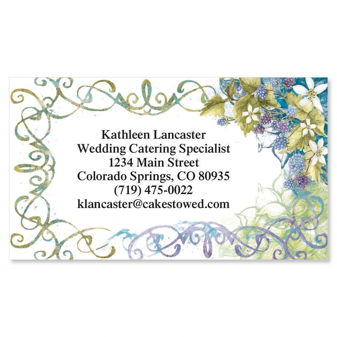 Grape Floral  Business Cards