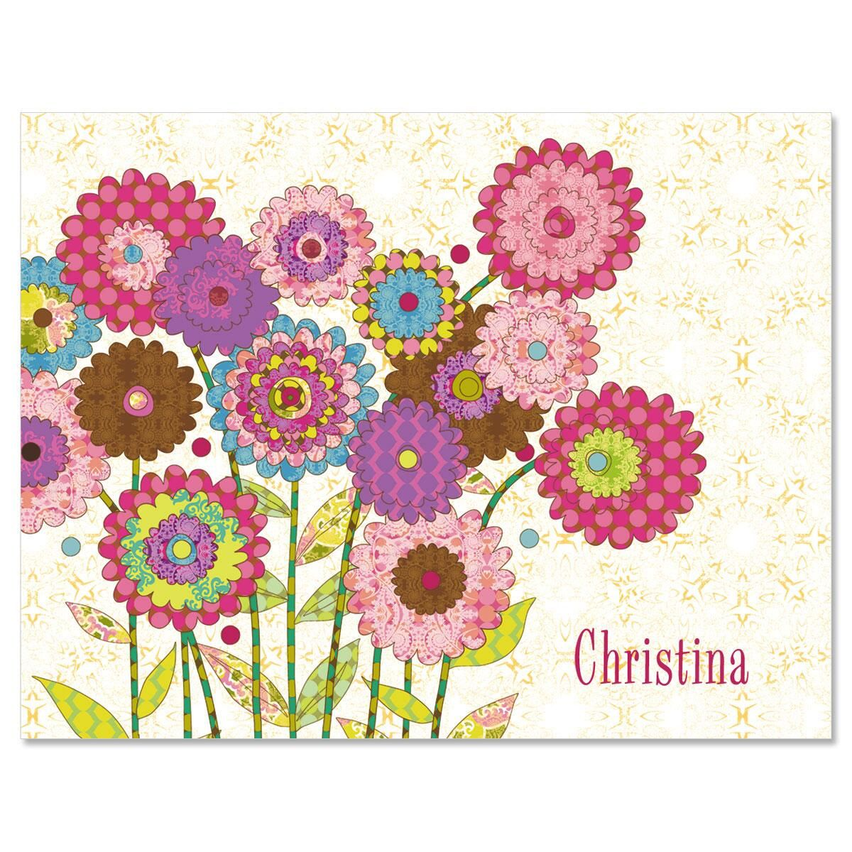 Ladybird Garden Personalized  Note Cards