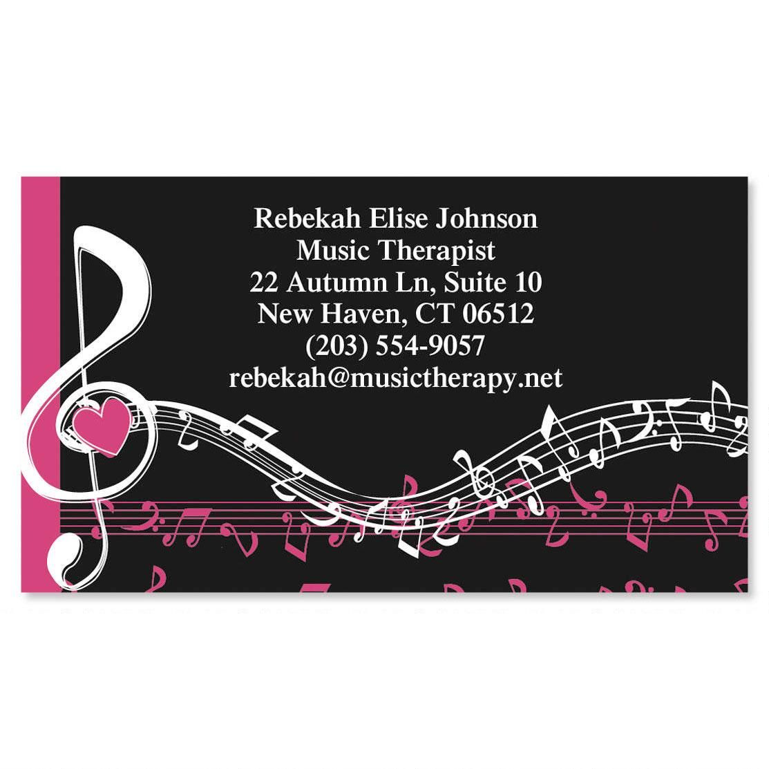 Heart and Song  Business Cards