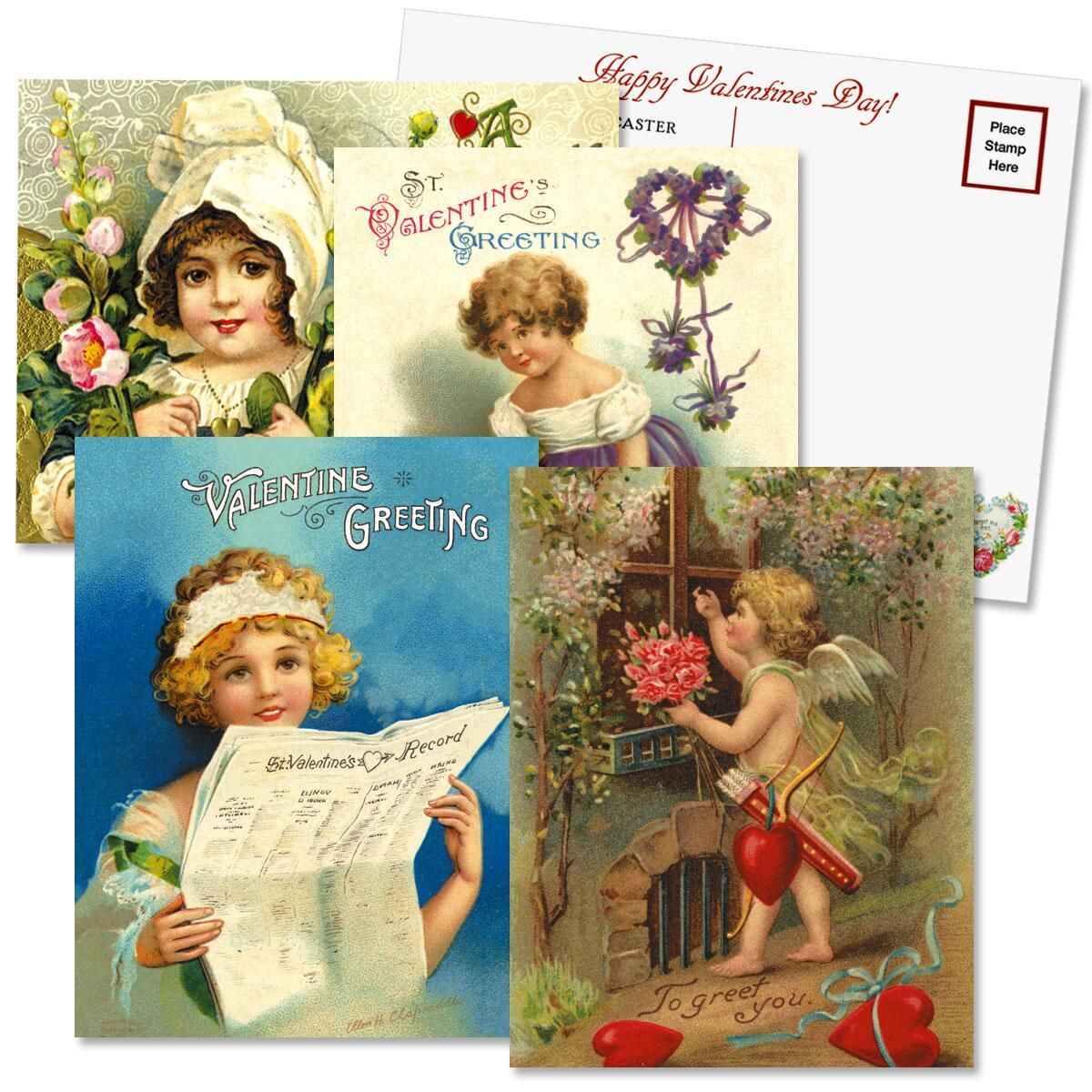 Valentine's Day Personalized  Victorian Postcard