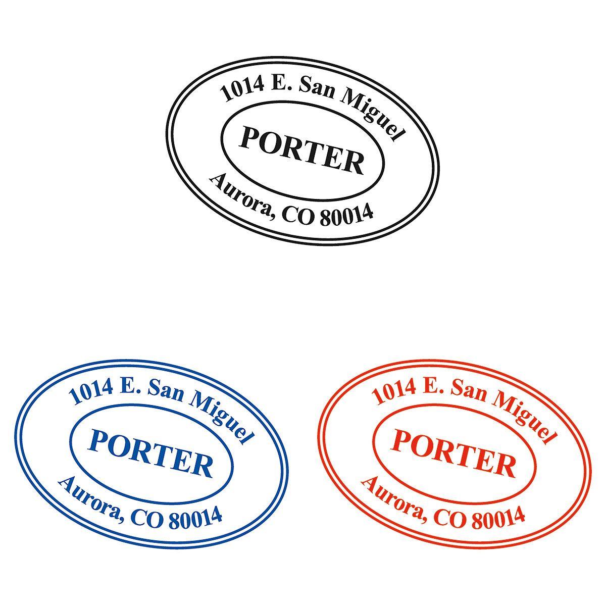 Custom Oval Self-Inking Address Stamp