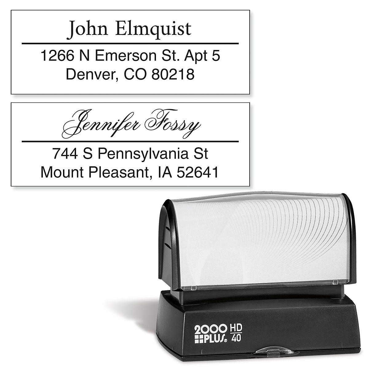 Accent Line Address Stamp