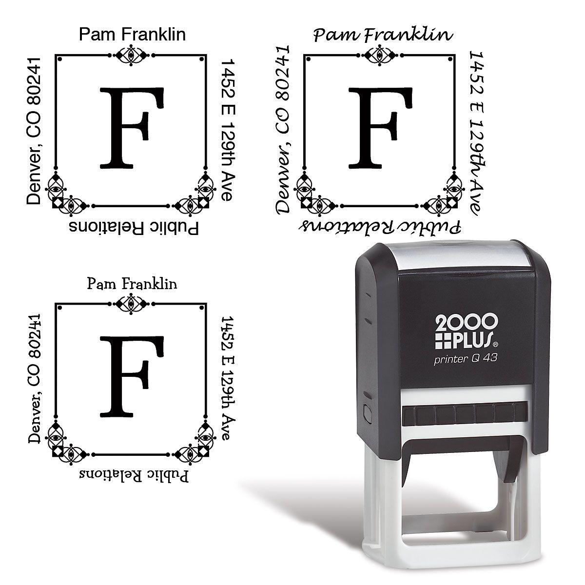 Executive Square Address Stamp