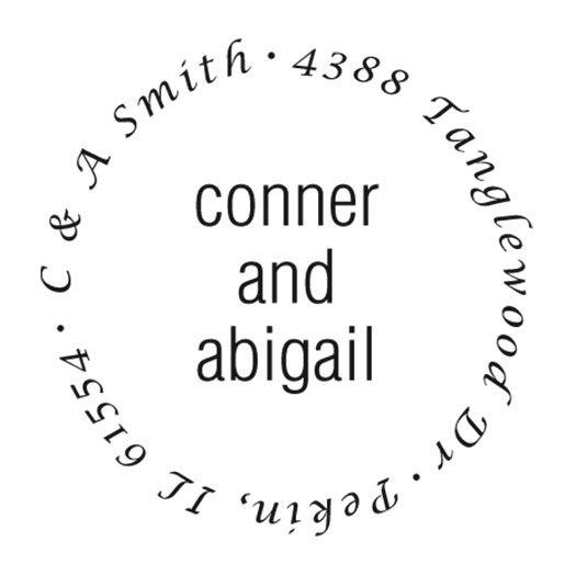 Couples Round Address Stamp