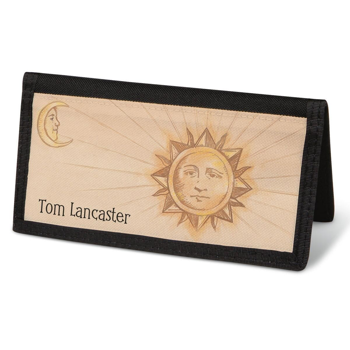 Sun and Moon  Checkbook Cover - Personalized