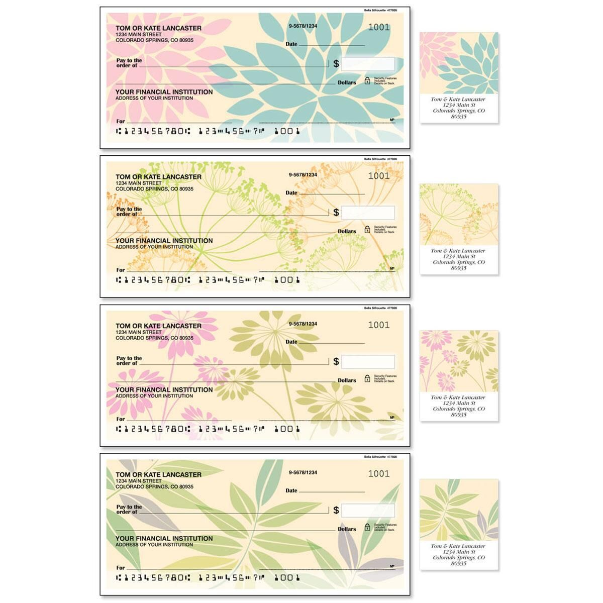 Bella Silhouette Duplicate Checks With Matching Address Labels