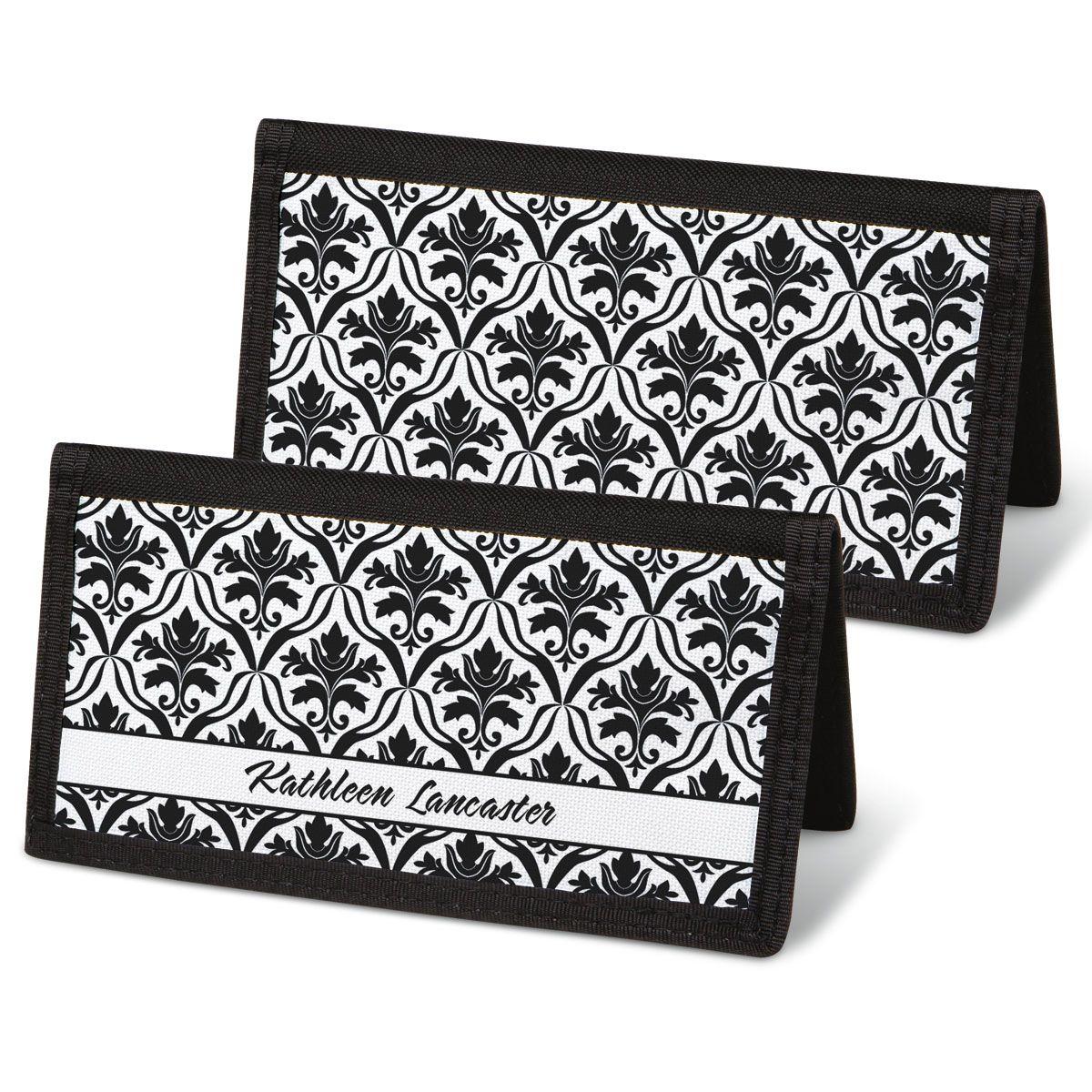 Elegant in Black Checkbook Cover