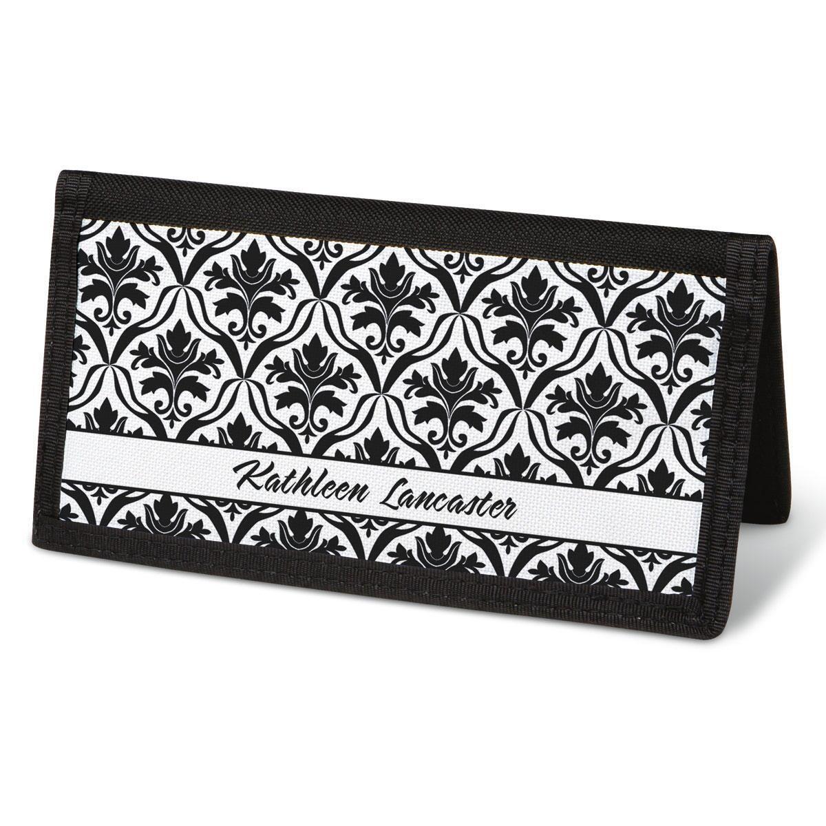 Elegant in Black Checkbook Cover - Personalized