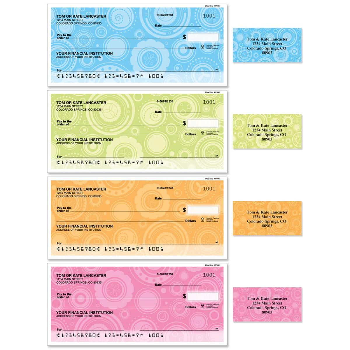 Ultra Chic Single Checks With Matching Address Labels