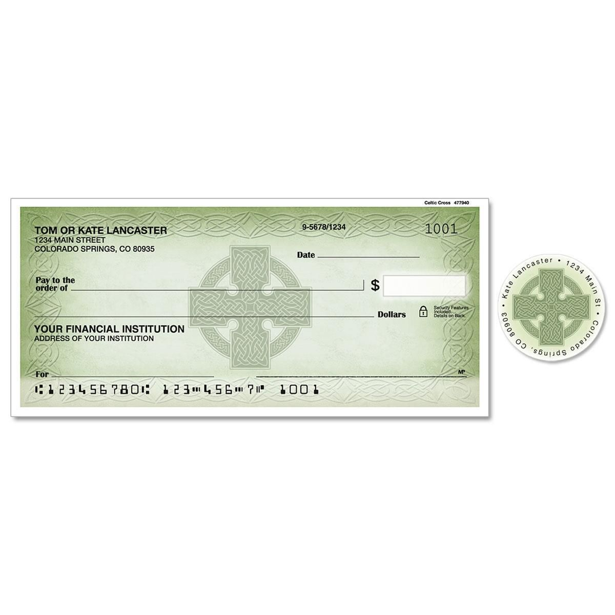 Celtic Cross Single Checks With Matching Address Labels