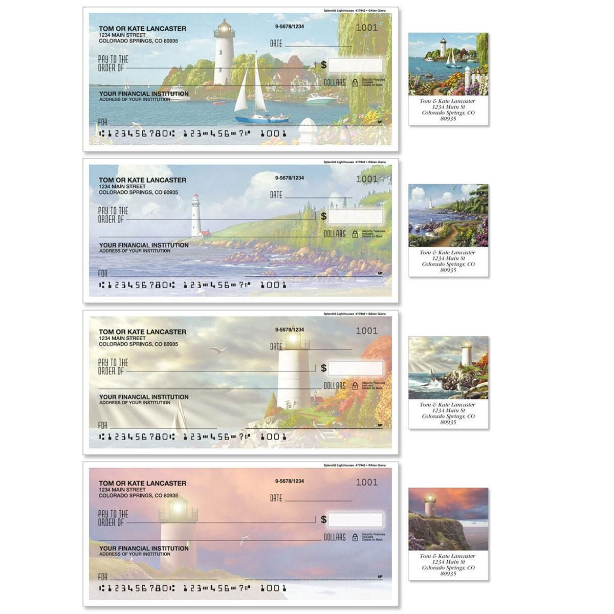 Splendid Lighthouses Duplicate Checks With Matching Address Labels