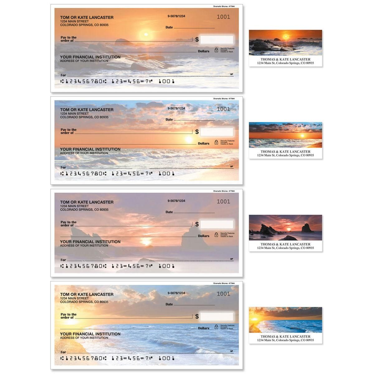 Dramatic Shores Duplicate Checks With Matching Address Labels