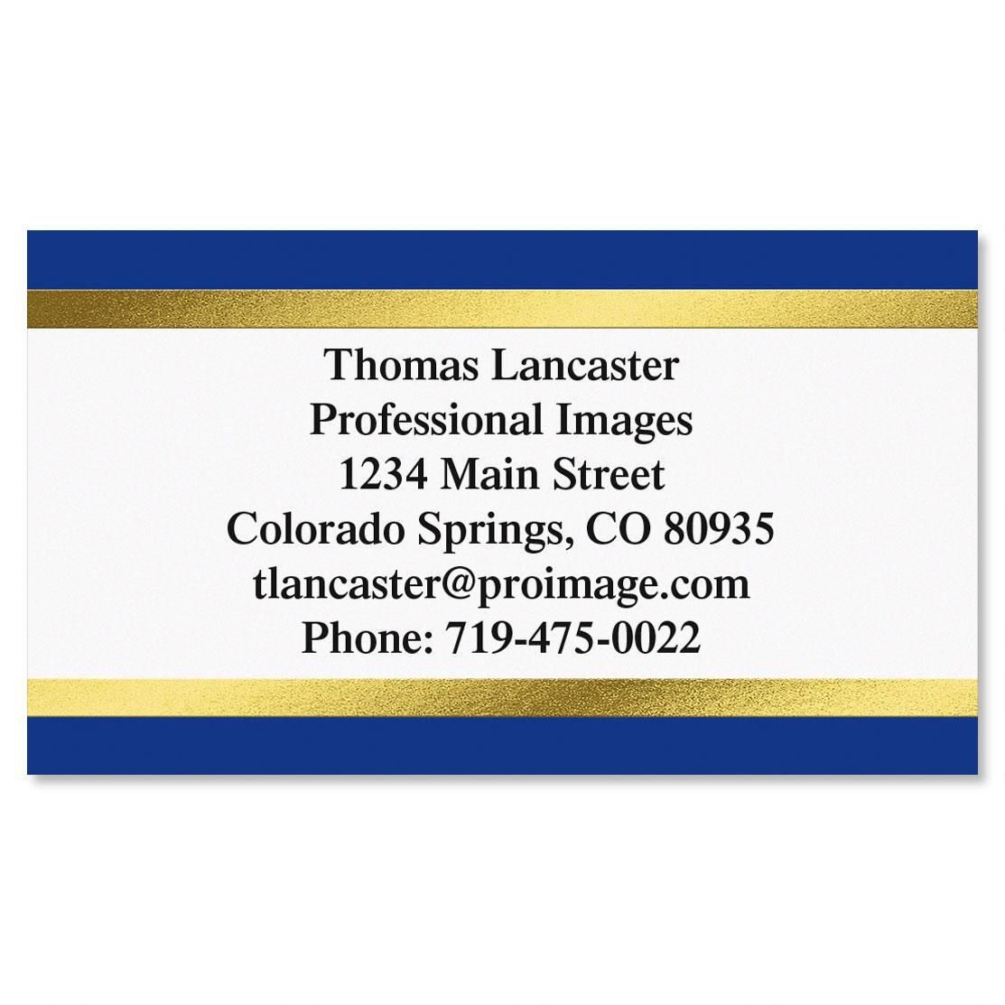 Blue & Gold  Foil Business Cards