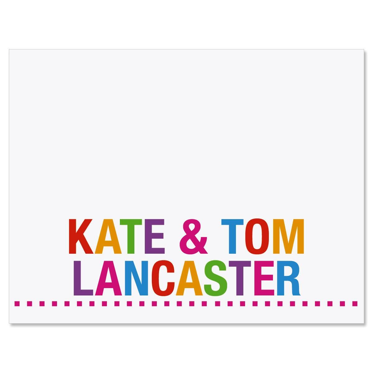 Whimsical Name Personalized Note Cards
