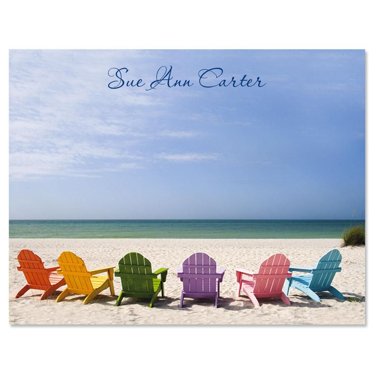 Tropical View Personalized Note Cards
