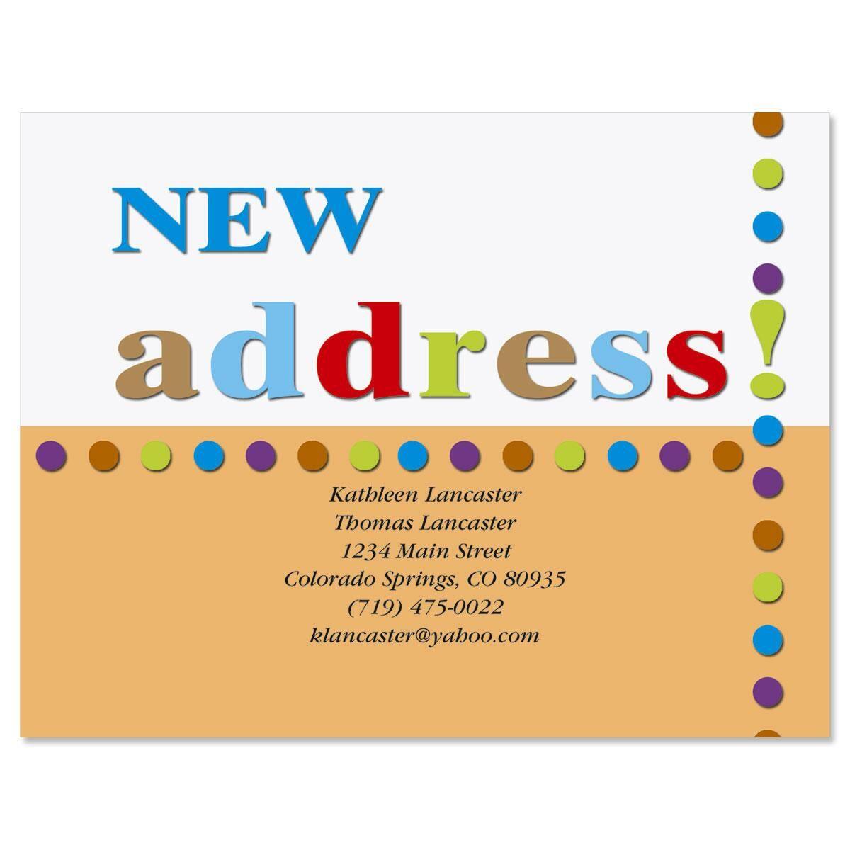 New Address Postcards