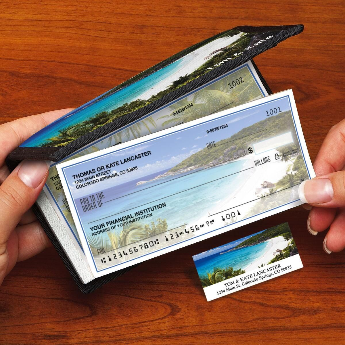 Tropical Paradise II Side-Tear Single Checks with Matching Address Labels
