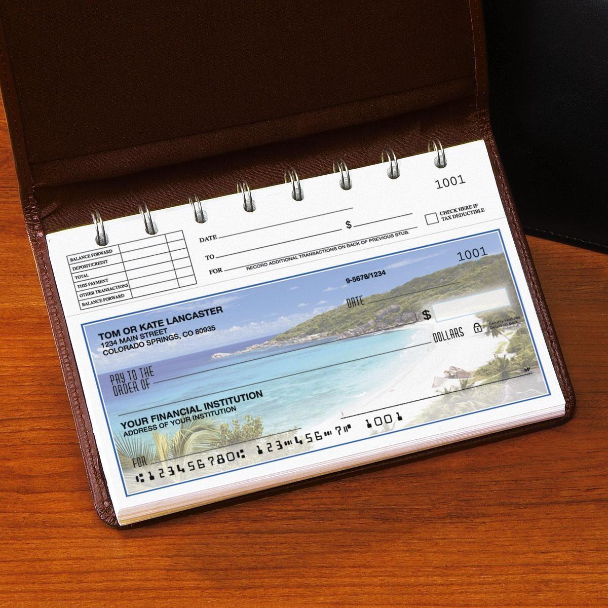 Tropical Paradise II Top-Stub Personal Checks