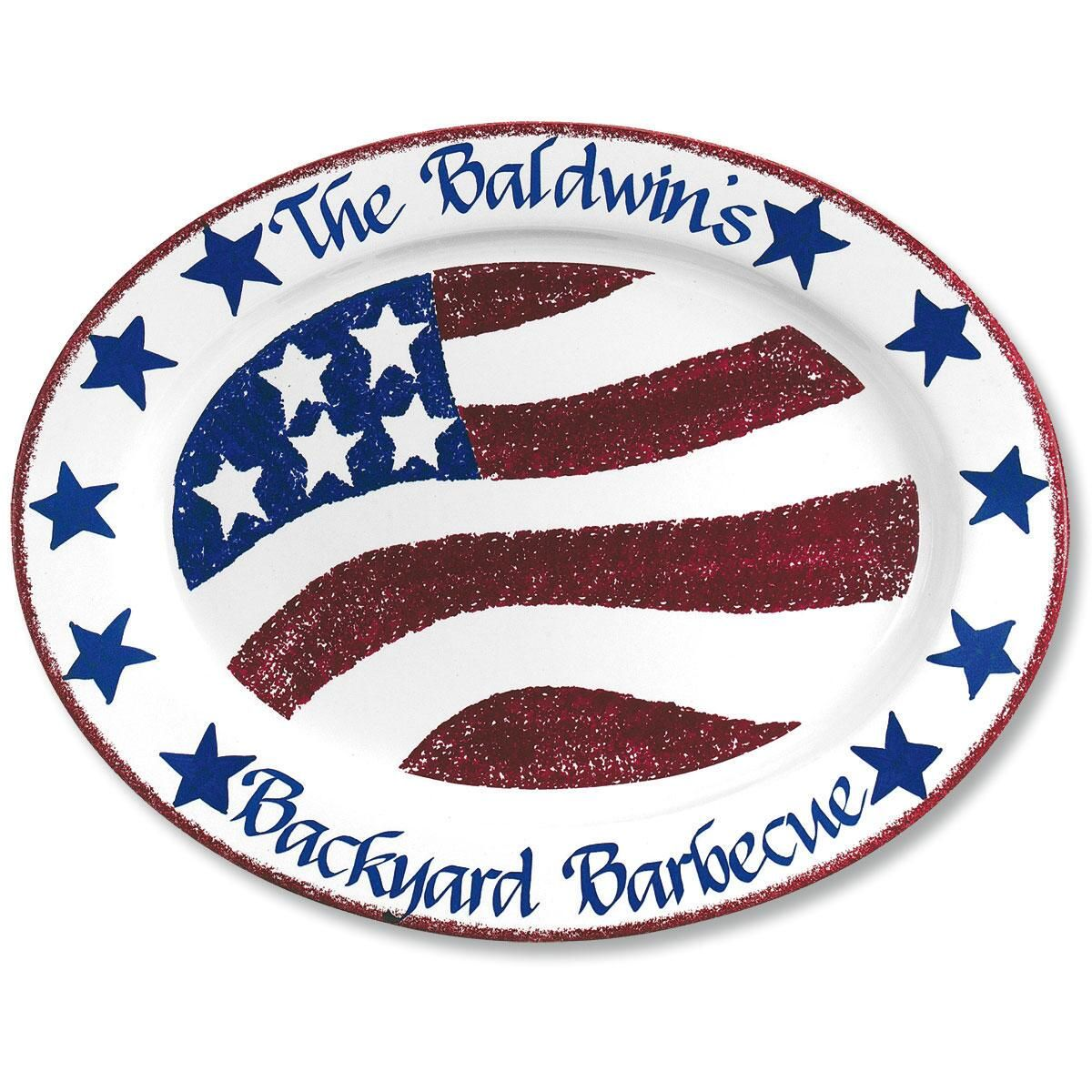 Personalized  Patriotic BBQ Platter