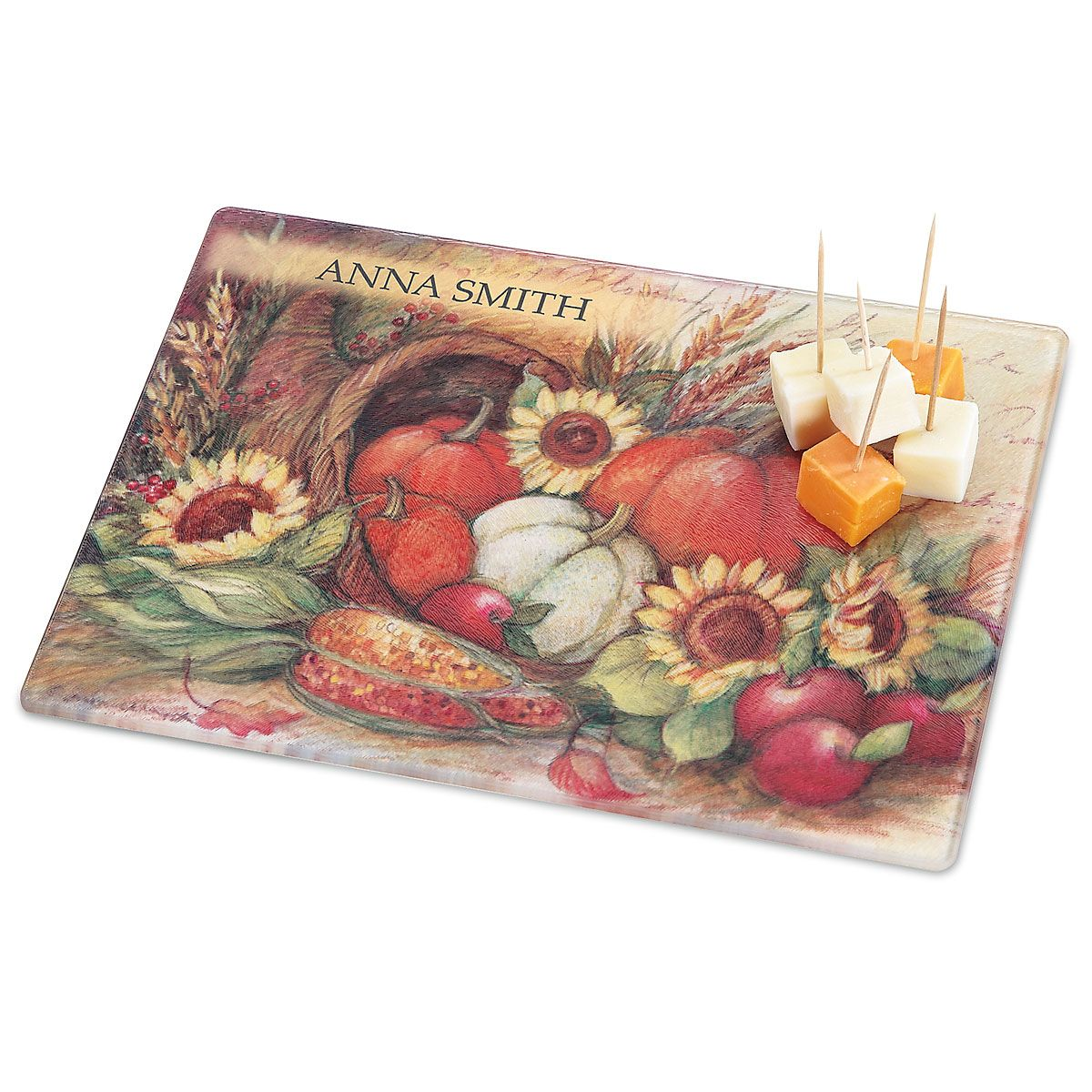 Plentiful Harvest Custom Glass Cutting Board