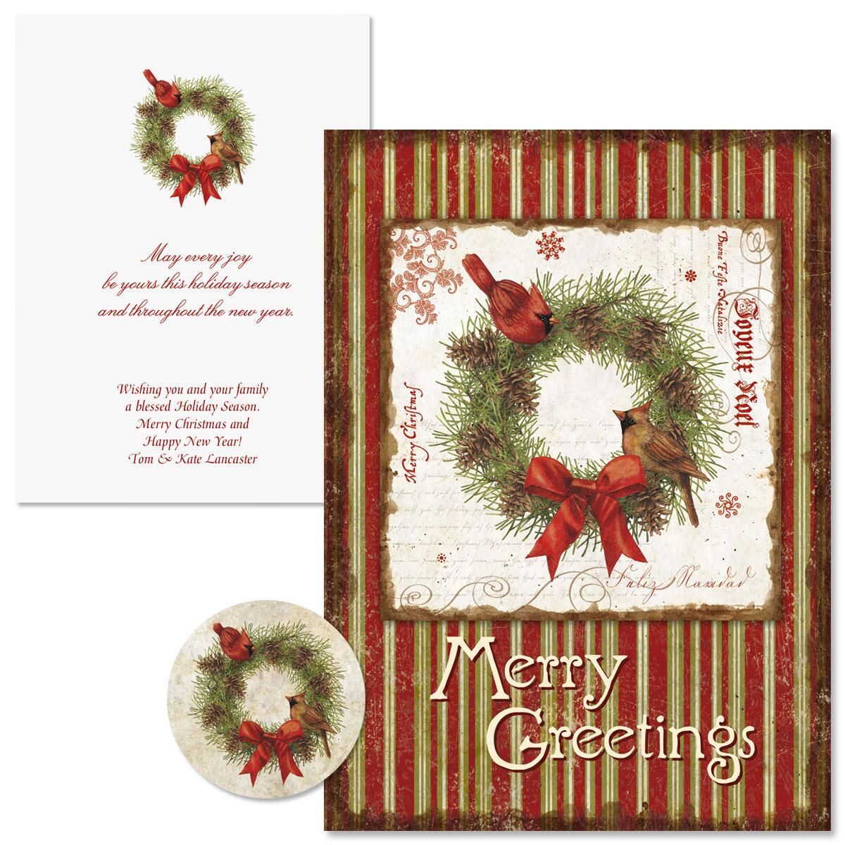 Joyelle Christmas Cards - Nonpersonalized
