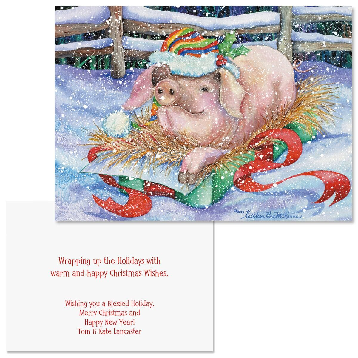 The Best Gift Note Card Size Christmas Cards | Colorful Images