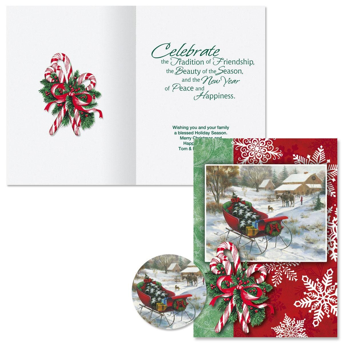 Bringing Home the Tree Christmas Cards  -  Personalized