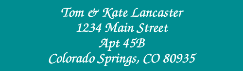 Solid Color Designer Rolled Address Labels - Roll of 250