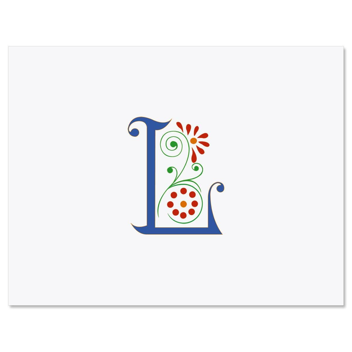Spring Monogram Custom Note Cards