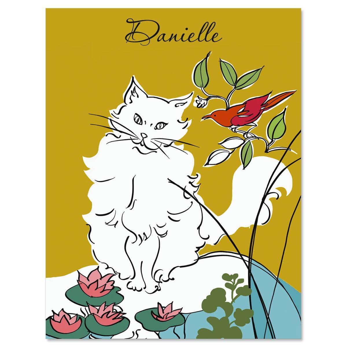 Pretty Girl Personalized Note Cards