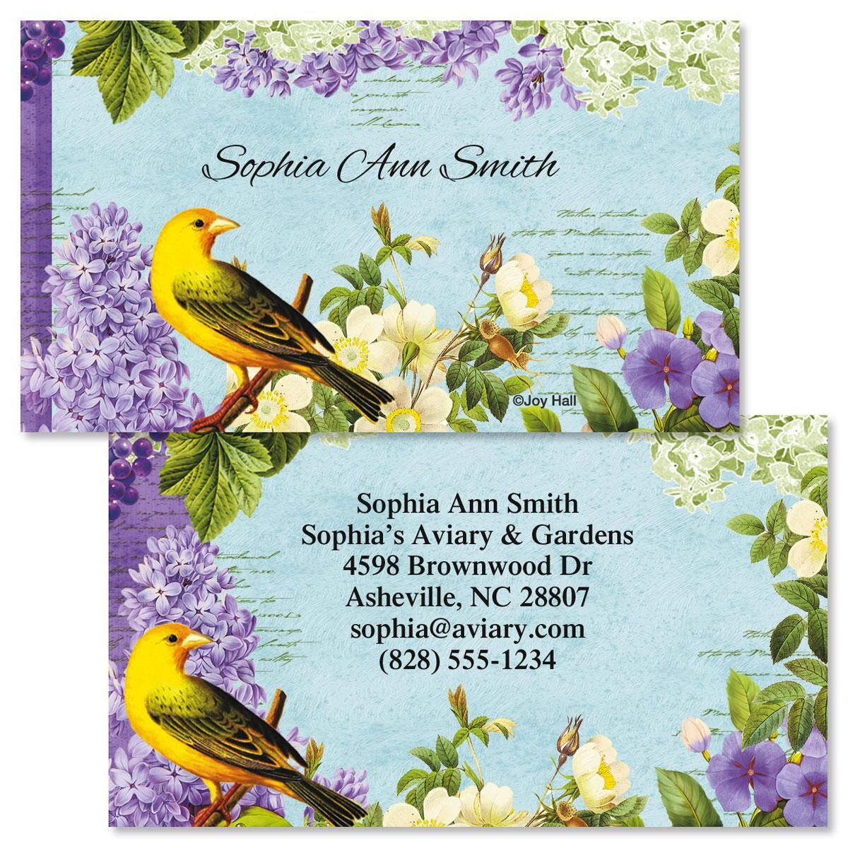 Bird Garden  Double-Sided Business Cards