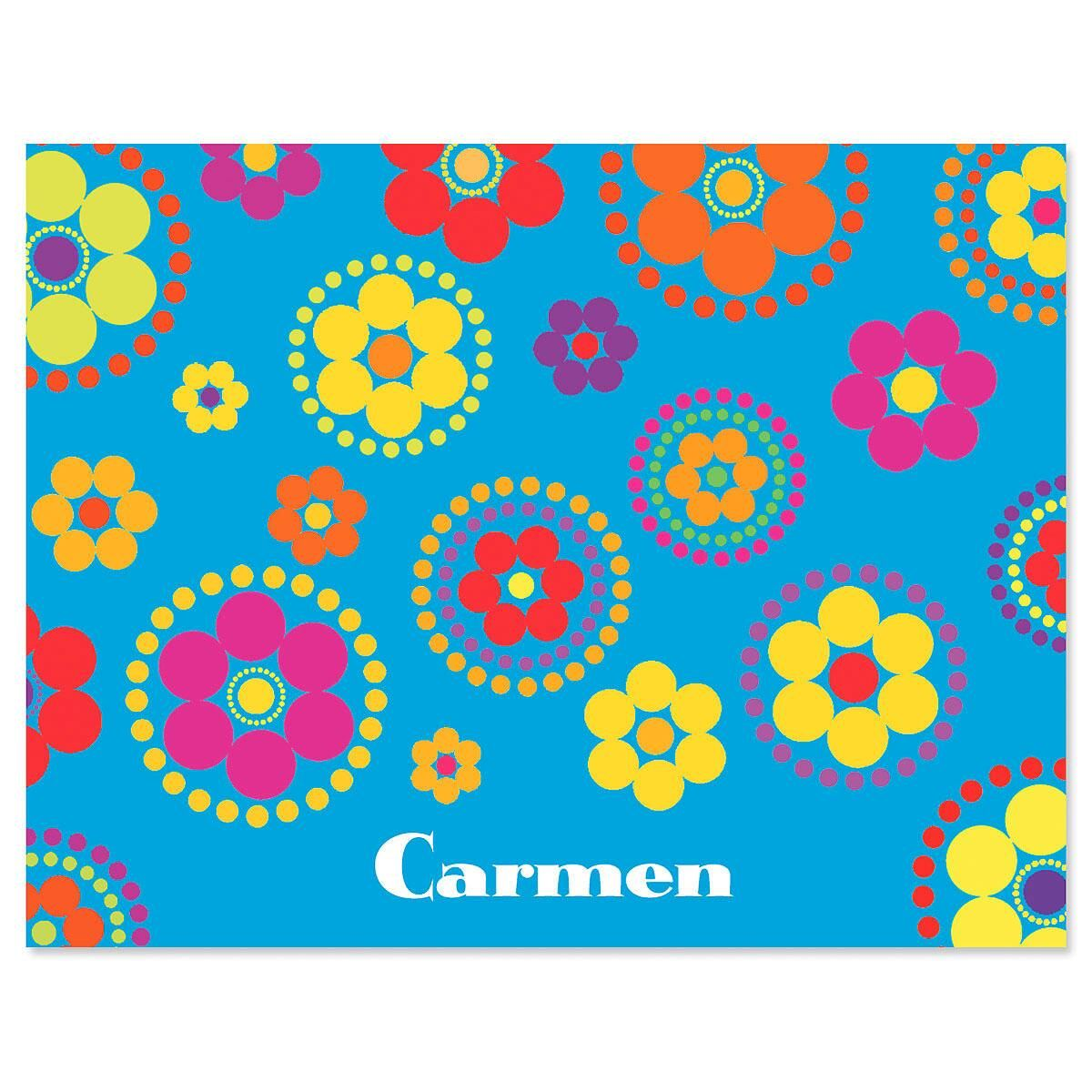 Fiesta Personalized Note Cards