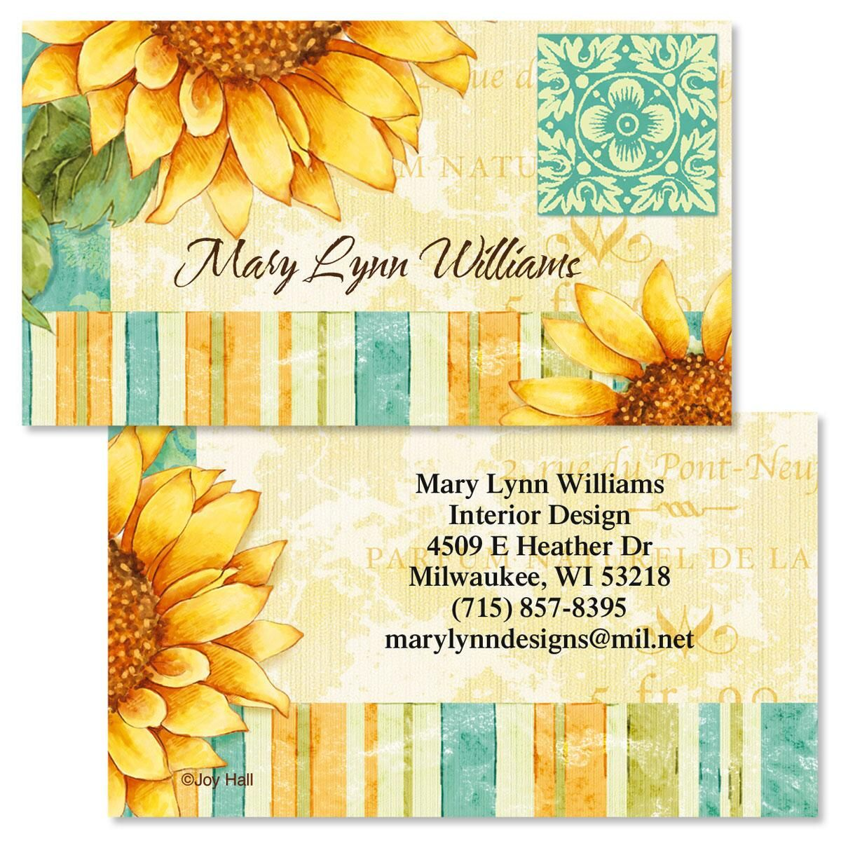 Gratitude Double Sided Business Cards | Colorful Images