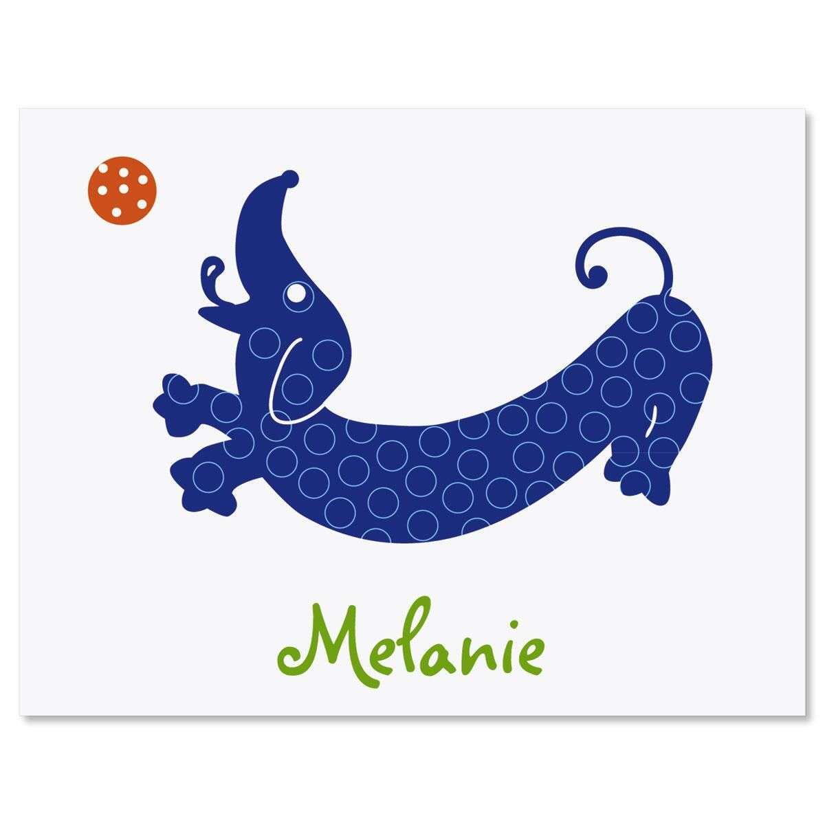 Hot Dog Personalized Note Cards