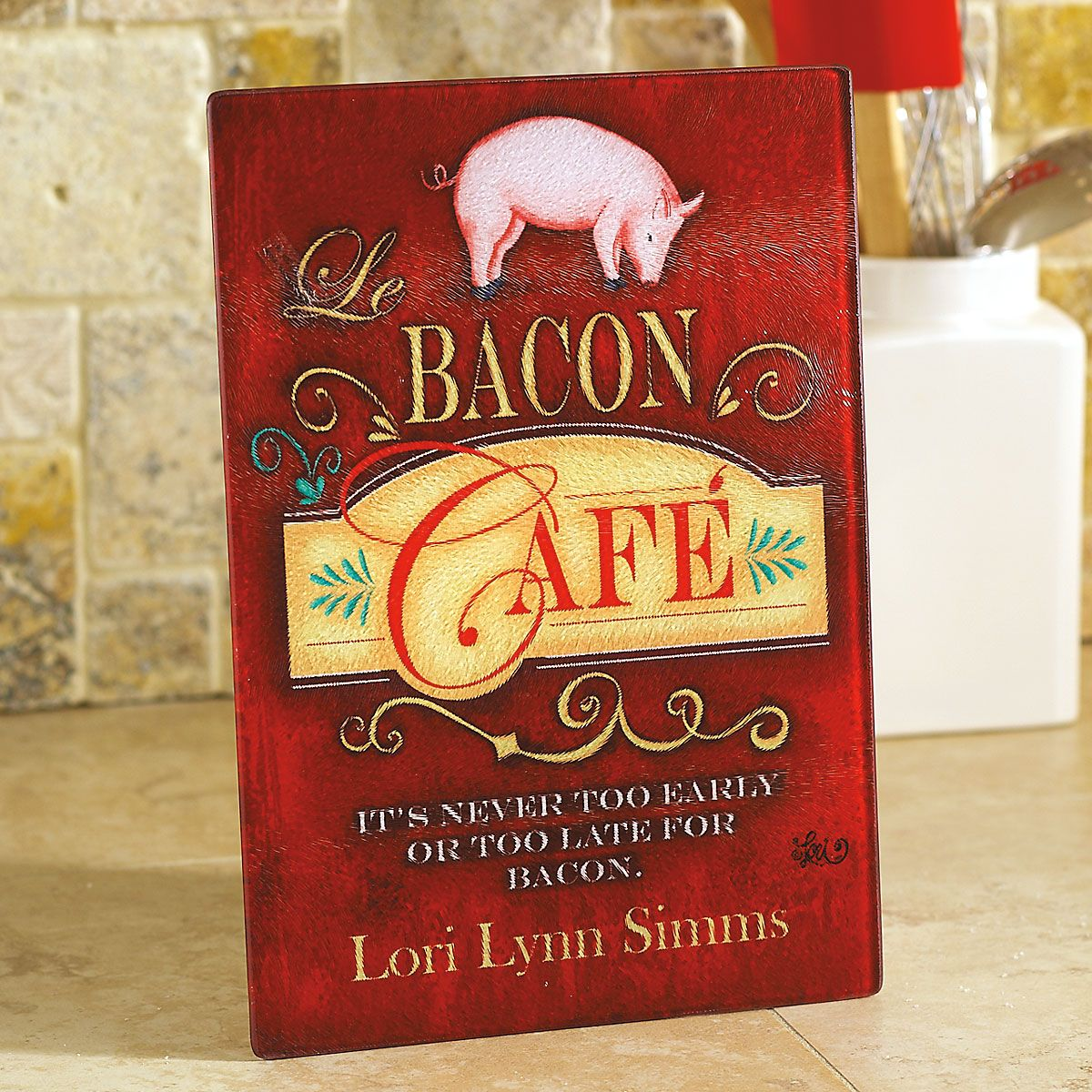 Bacon Cafe Custom Glass Cutting Board