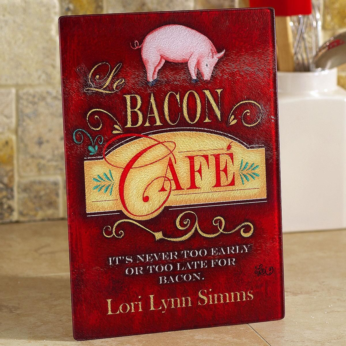 Bacon Caf&#233 Personalized Cutting Board