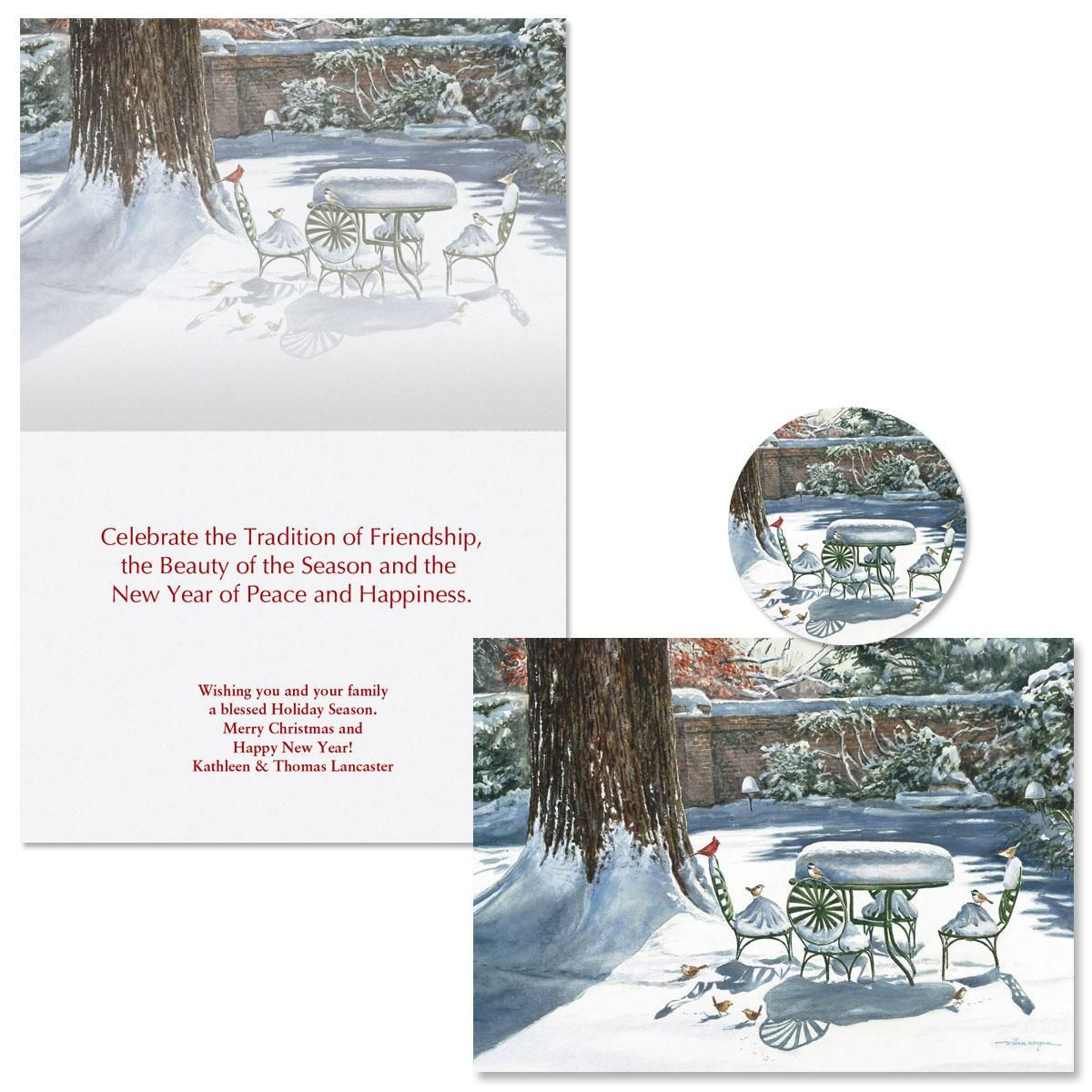 Garden Celebration Christmas Cards -  Personalized