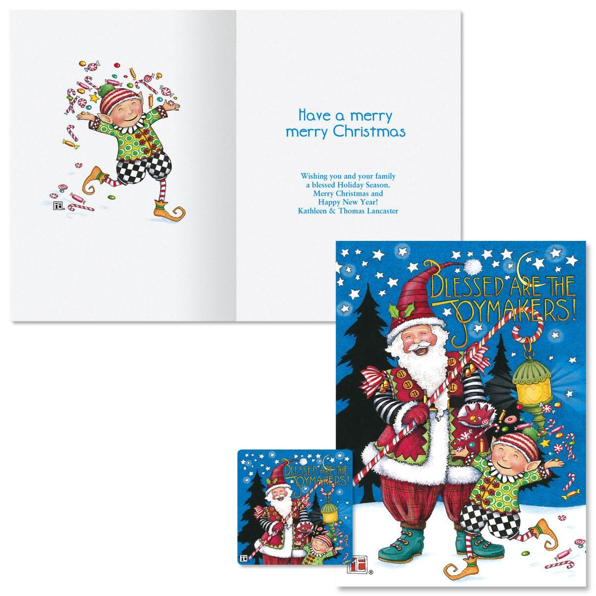 Joymakers Christmas Cards -  Personalized