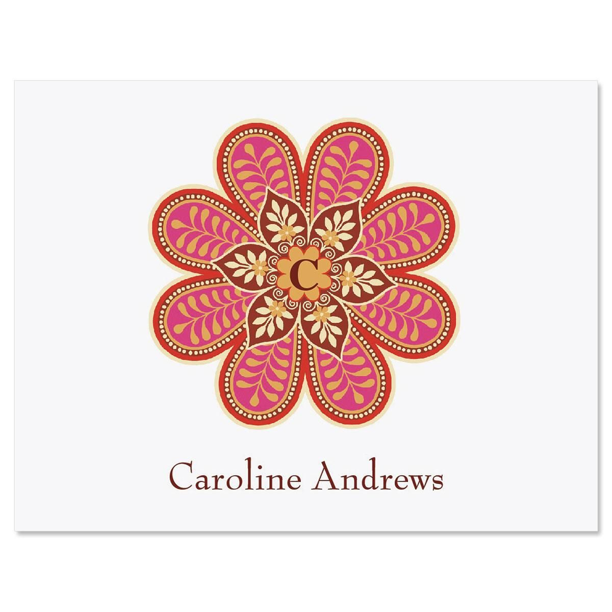 Flower Pop Personalized Note Cards