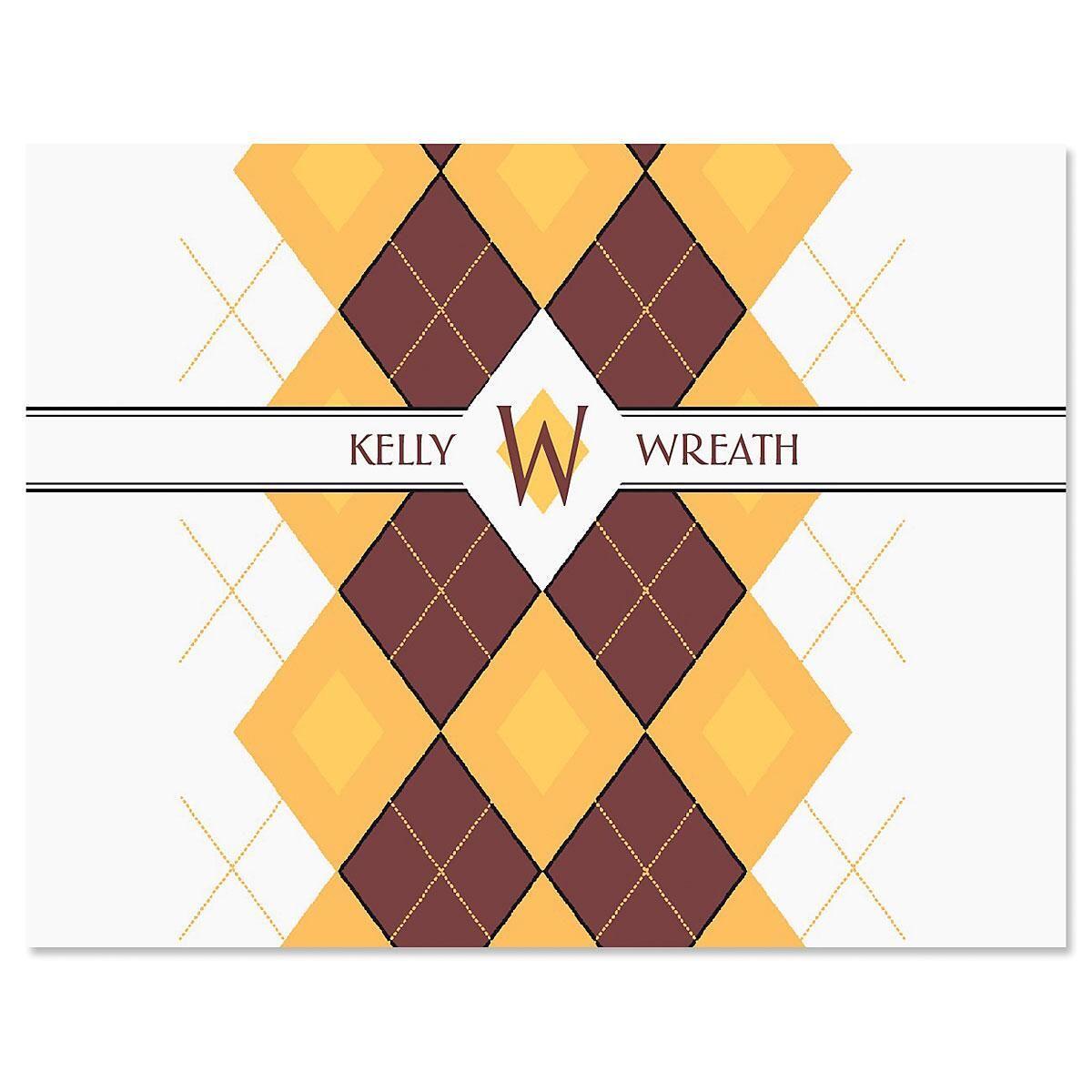 Argyle Note Cards