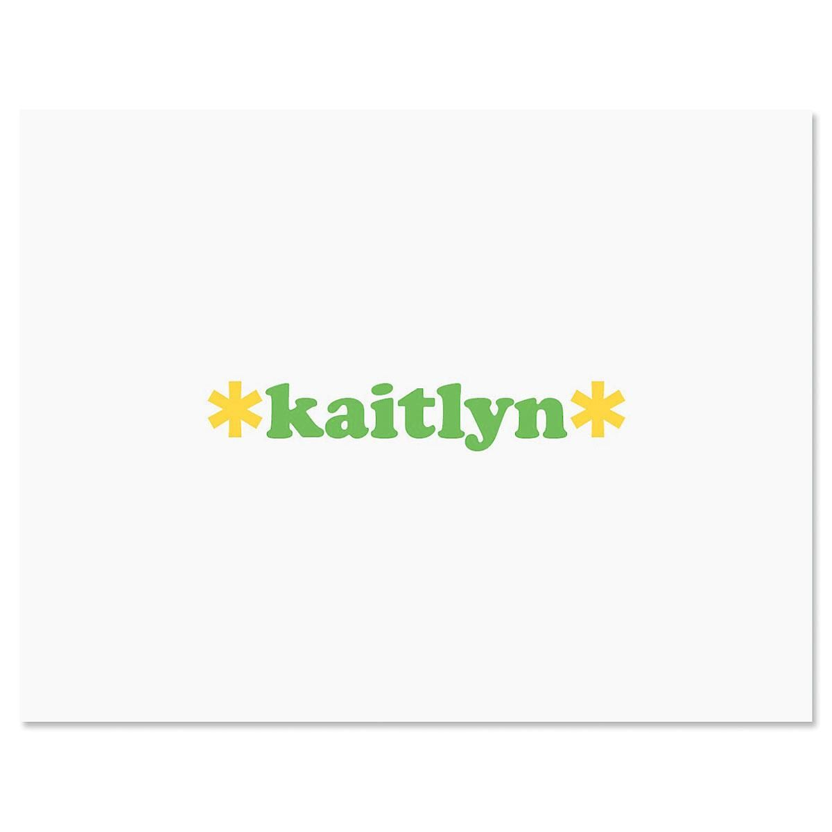Playful Personalized Note Cards