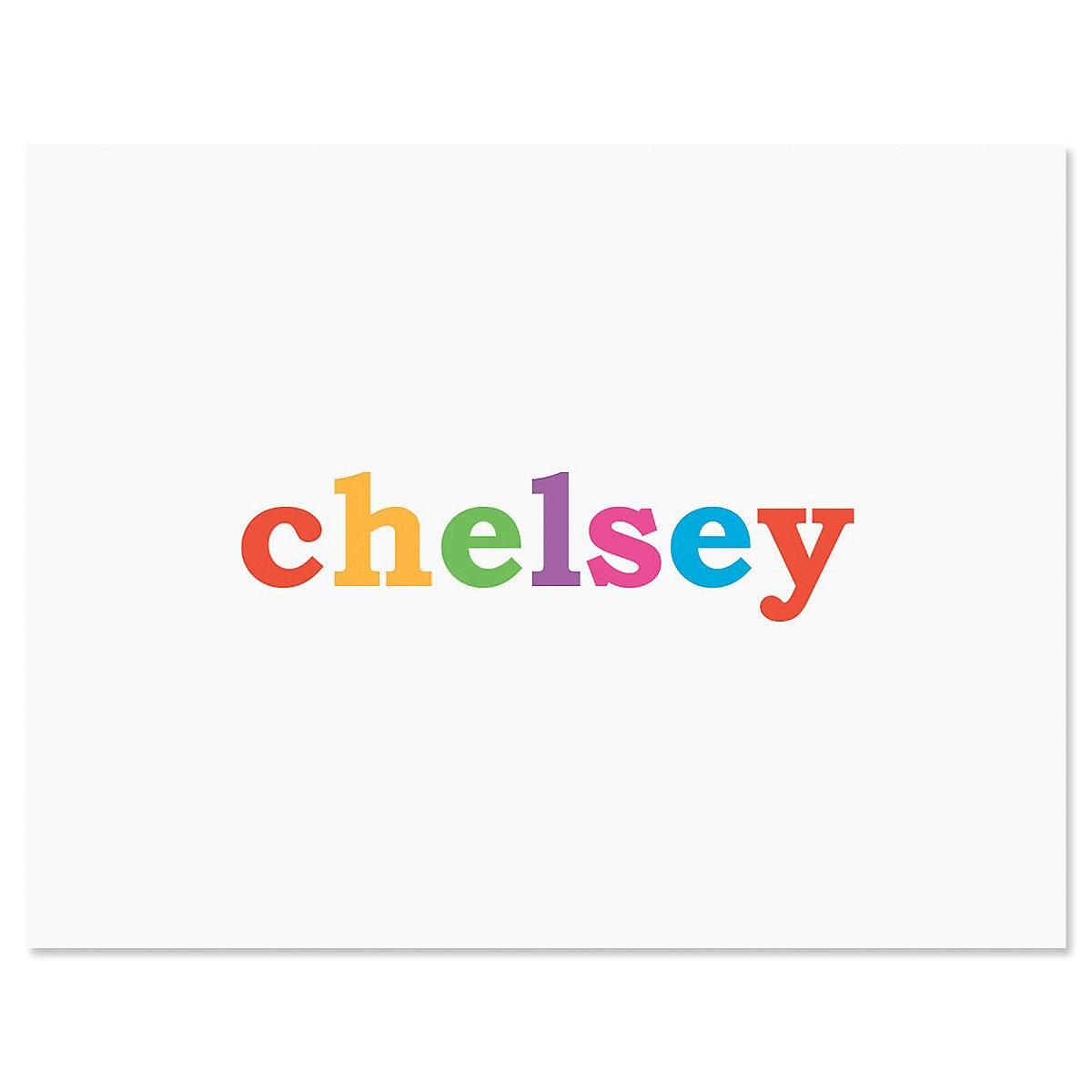 Paintbox Personalized Note Cards