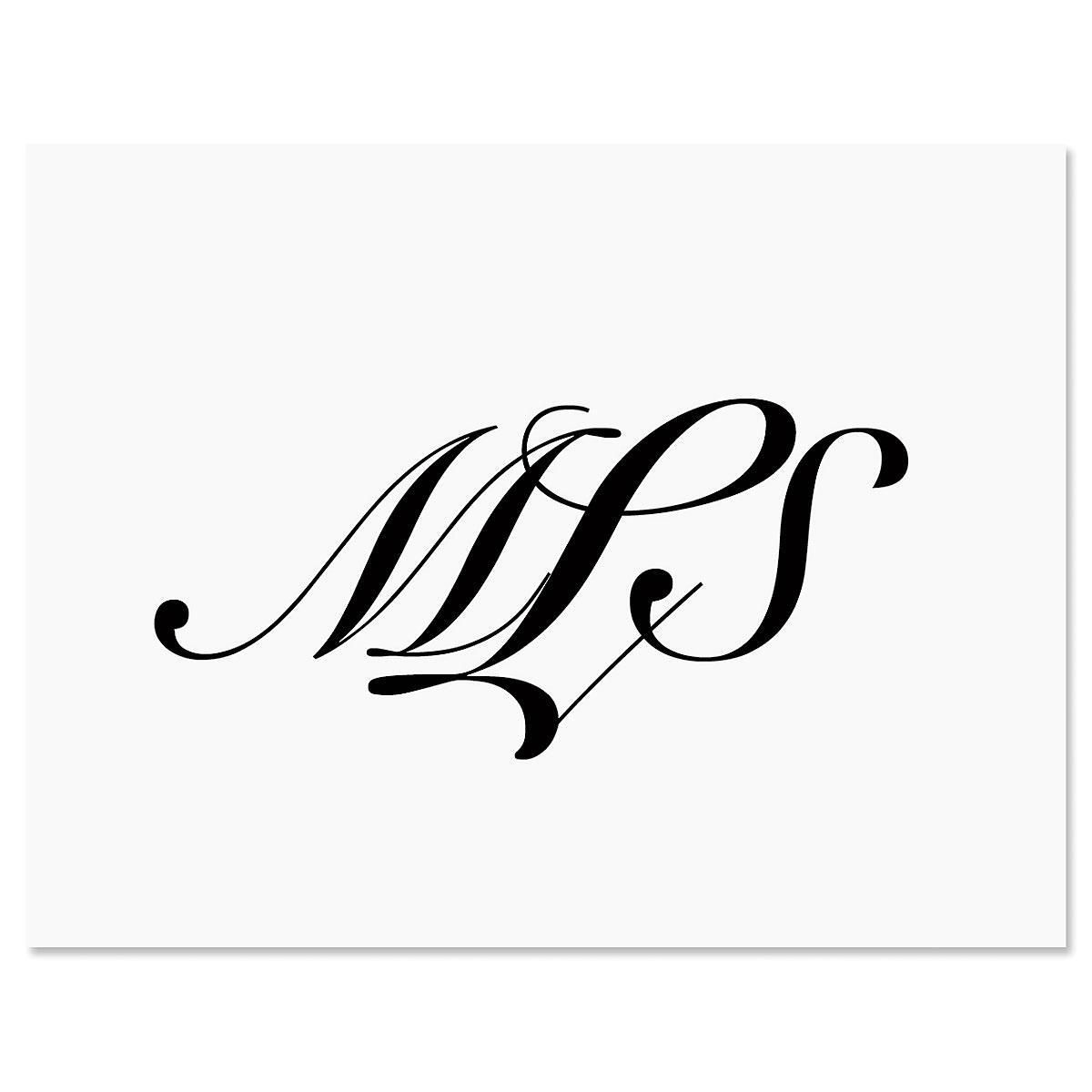 Elegant Monogram Note Cards - Set of 12