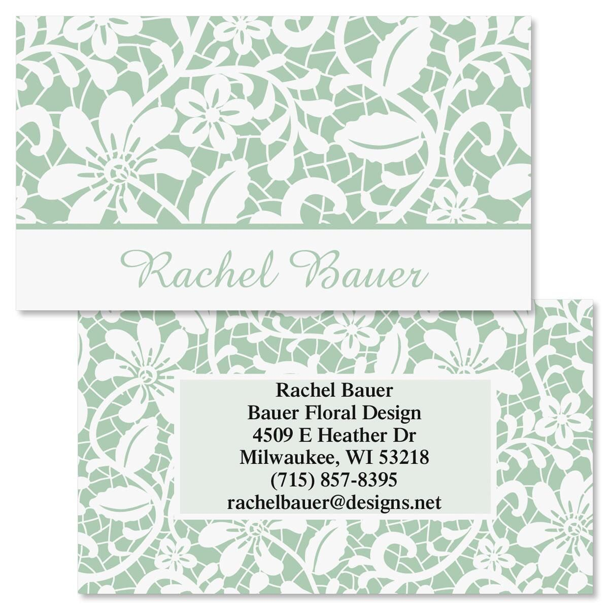 Lace Double-Sided Business Cards | Colorful Images