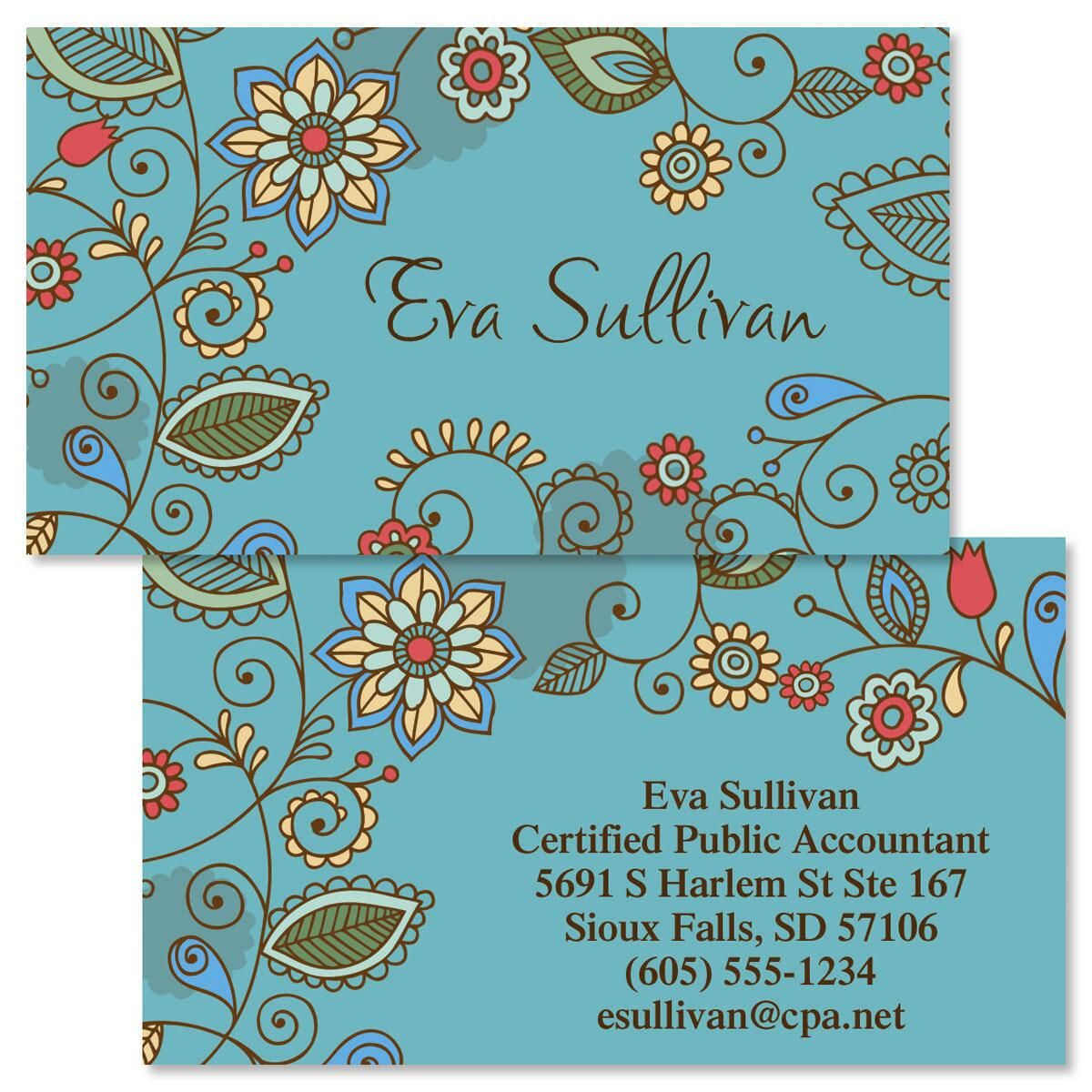 Paisley  Double-Sided Business Cards