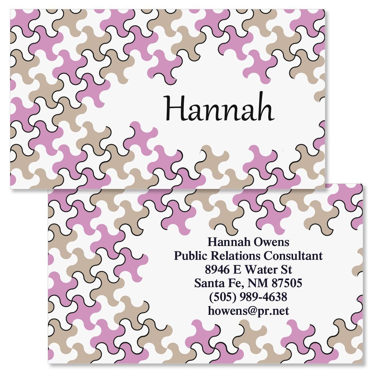 Houndstooth  Double-Sided Business Cards